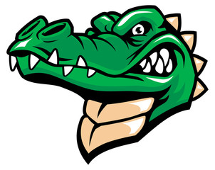 crocodille head mascot