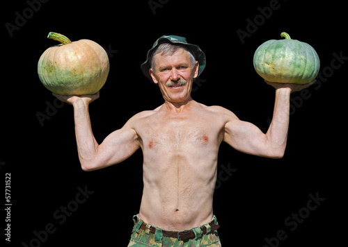 Man with pumpkins 18
