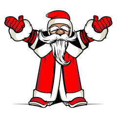 Santa hands up