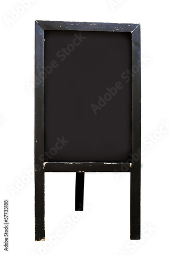 Blank chalkboard floor stand sign