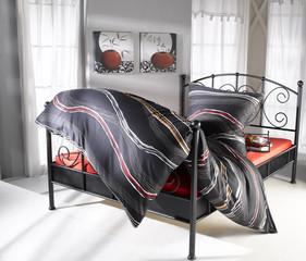 Bettwäsche rot und schwarz