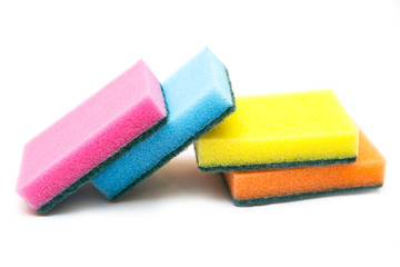 Cleaning sponge isolated