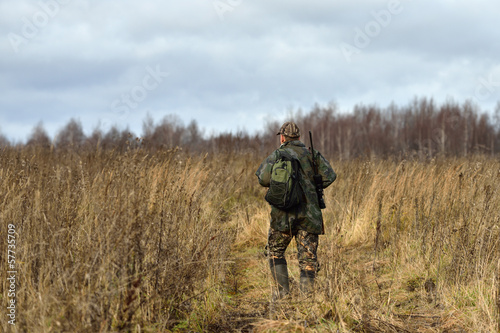 Hunter in field