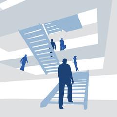 Geschäftsleute, Treppe, Aufsteigen - Illustration