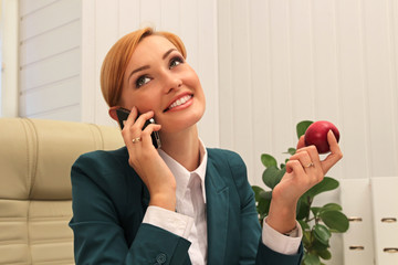 Beautiful Businesswoman Talking by The Phone