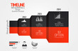 Minimal infographics design.Timeline. Vector