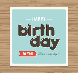 Happy birthday card, balloons font