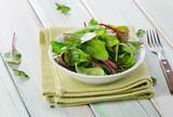fresh mixed salad leaves