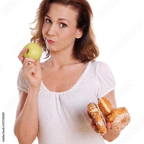 Süßes Gebäck oder Obst