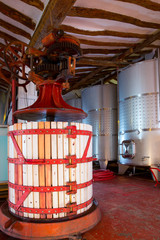 Winery Press and Stainless steel fermentation tanks