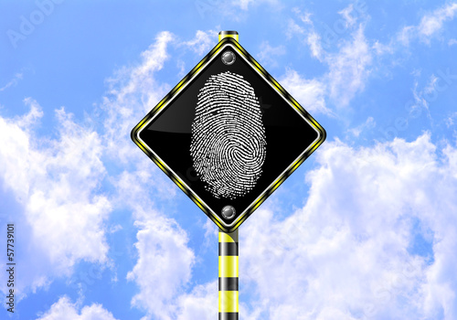 FINGERPRINT ROAD SIGN