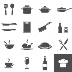 Restaurant kitchen icons