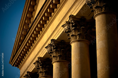 Deurstickers Theater facade of a building with columns