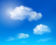 Clouds on blue sky. Vector illustration.