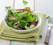 fresh mixed salad leaves
