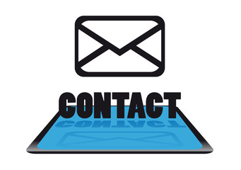 Modern contact icon