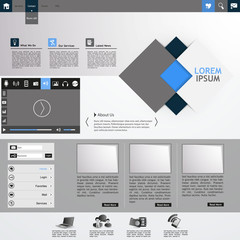 Professional Minimalist Clean Business Website Template Design