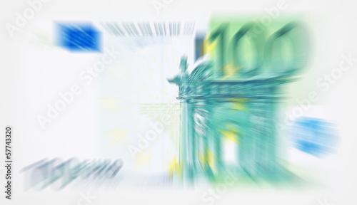 100 Euro Schein abstrakt Hintergrund