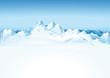 Hochgebirge im Schnee
