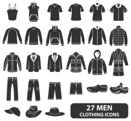 Men Clothing Icons