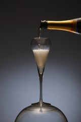Elegant photo of a champagne flute