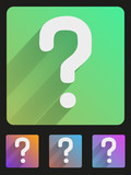 Flat icon set question mark