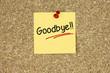 Goodbye! Cork board