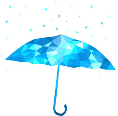 polygonal umbrella. Vector illustration
