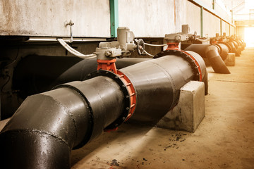 Sewage treatment plant piping