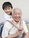 asian grandpa and grandson