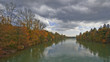 River Drava in autumn Slovenia