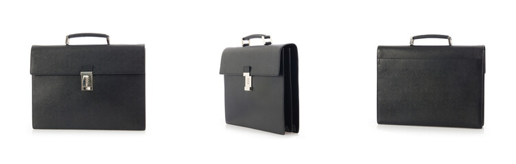 Briefcase isolated on the white background