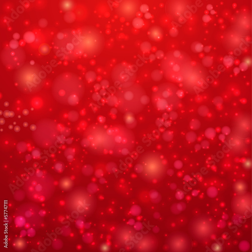 Red background with twinkly lights