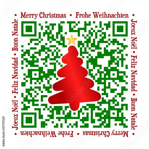 QR Code - Christmas international green