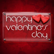 Happy Valentine's Day Glass Plate