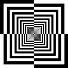 carrés noirs et blancs