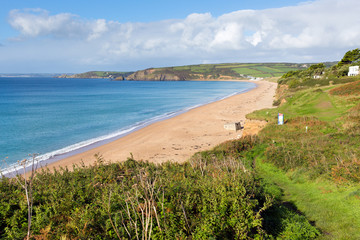 South West Coast Path Praa Sands Cornwall England
