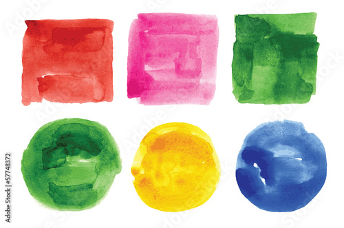 watercolor design elements