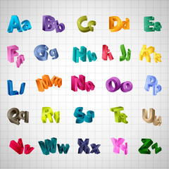 Alphabet Set - Isolated On White Background