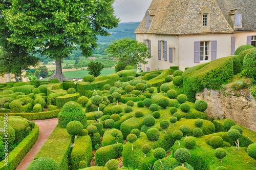 Leinwandbild Motiv France, picturesque garden of Marqueyssac  in Dordogne