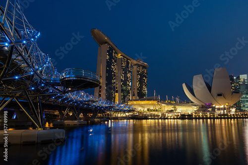Night Scene of Marina Bay, Singapore