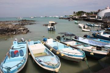 Barche nel Porto di San Cristobal, Galapagos