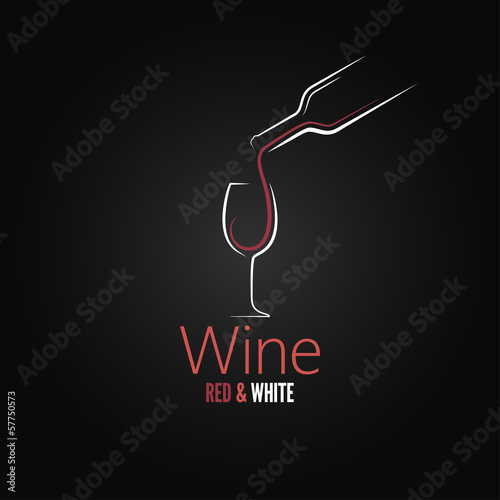 wine glass concept menu design - 57750573