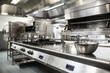 canvas print picture - Work surface and kitchen equipment