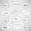 Speech Bubbles Set - Isolated On Background - Vector