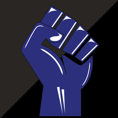 Clenched fist hand vector. Victory, revolt concept.