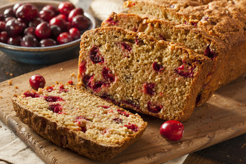 Homemade Delicious Cranberry Bread
