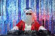 Leinwanddruck Bild party santa