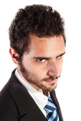 businessman's glare