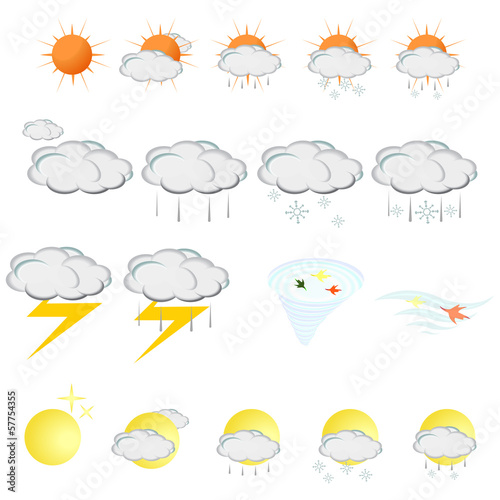 Weather icons Set - Vector illustration